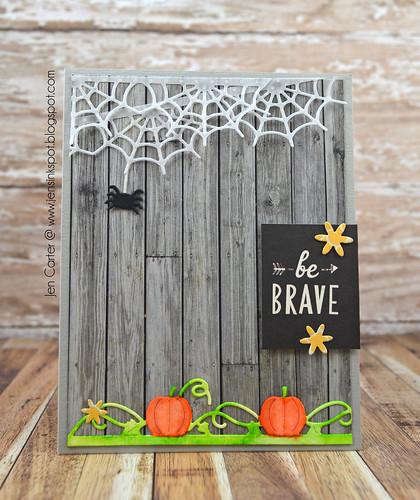 Jen Carter Pumpkin Spiderweb Brave 1