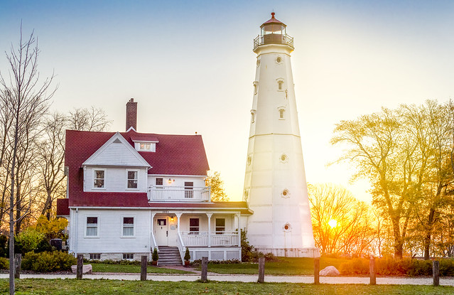 North Point Lighthouse at Sunrise