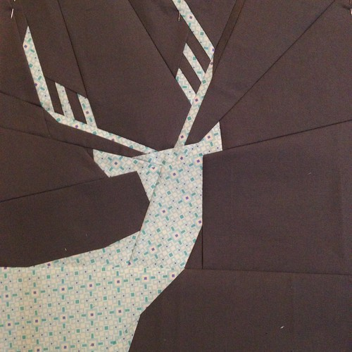 Not So Spring Deer - a paper pieced pattern