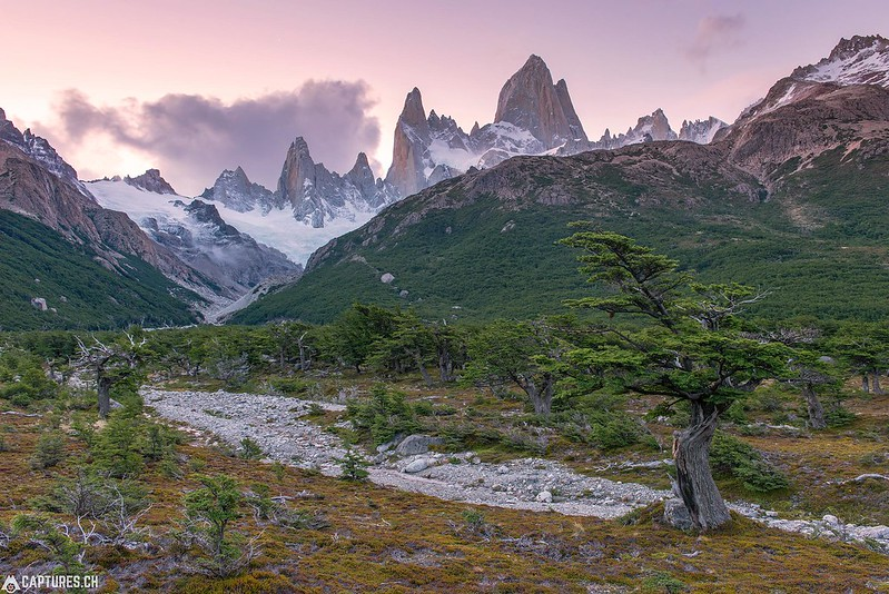 Dusk at the Fitz Roy - El Chalten