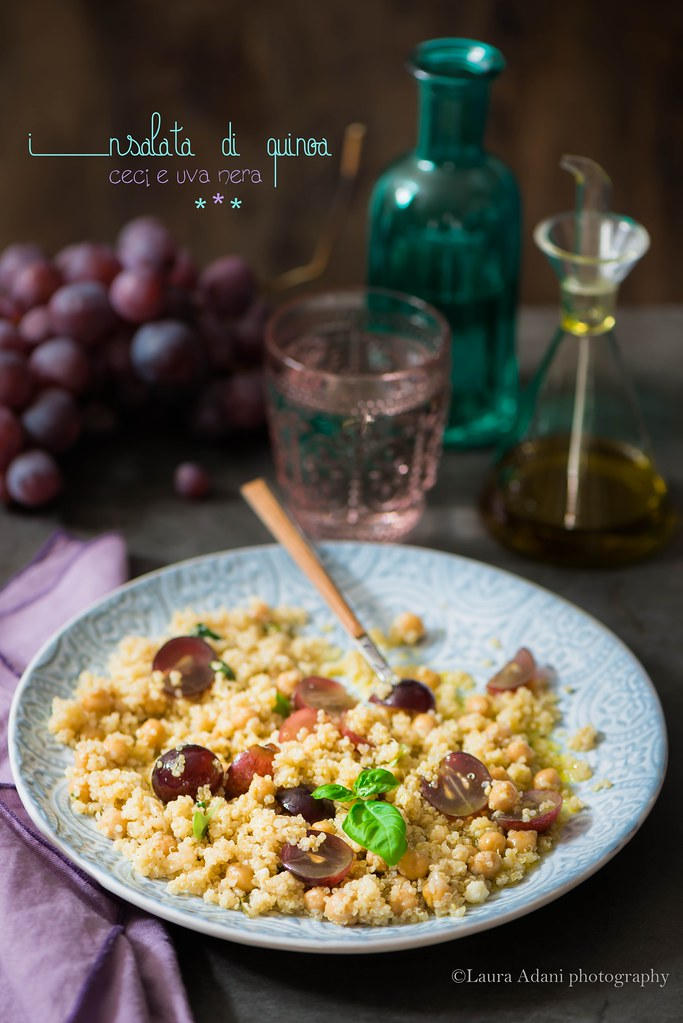 quinoa salad with purple grapes
