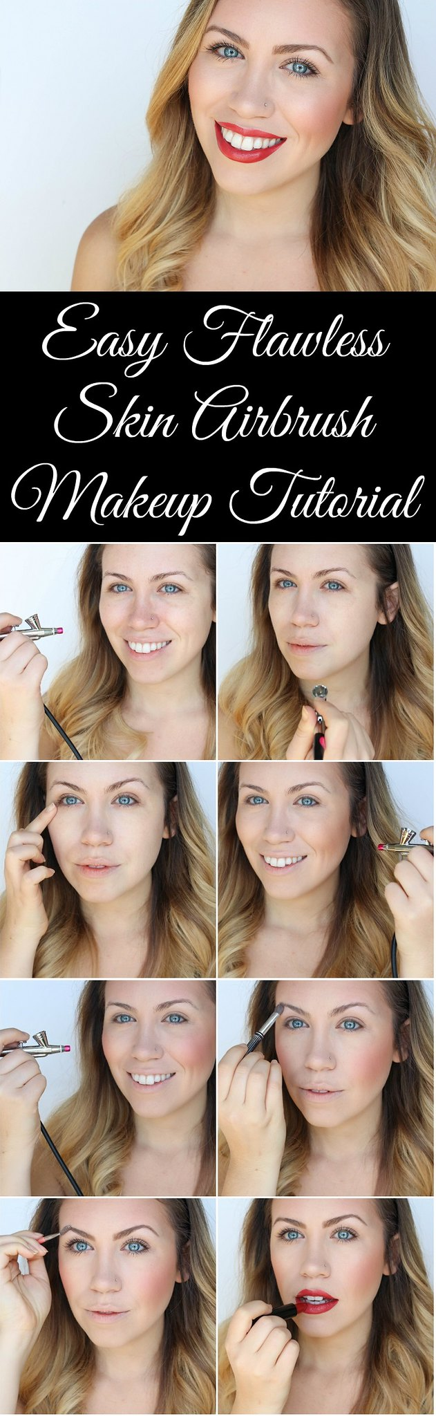 Basic Easy Airbrush Makeup Tutorial with Luminess Air Airbrush Essentials Living After Midnite Beauty Jackie Giardina