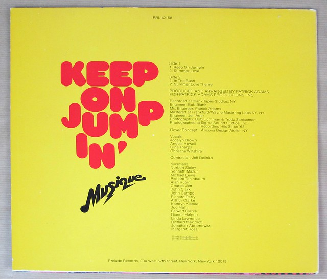 "MUSIQUE KEEP ON JUMPIN' 12"" EP VINYL"