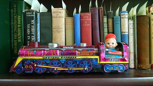 Toy Train and Books