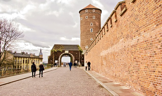Krakow castle entrance