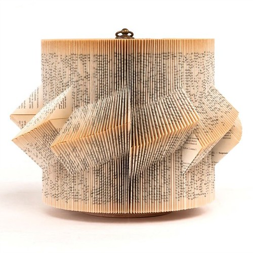 Folded Book Sculpture by Crizu - Sail