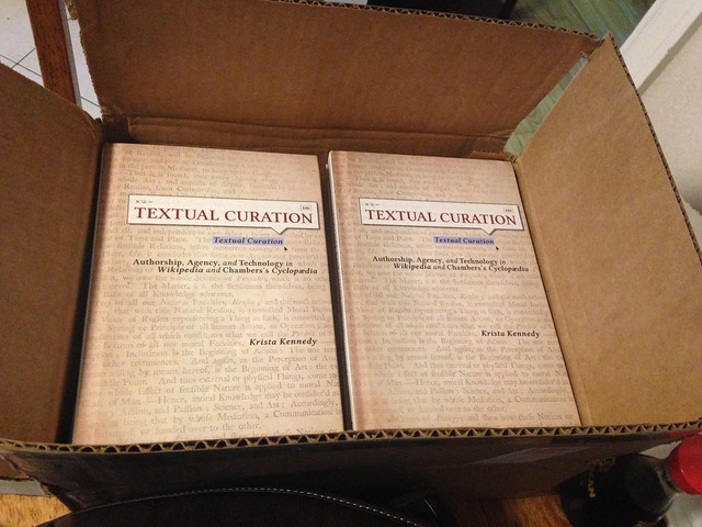 I wrote a book and one day they sent me a box of copies.