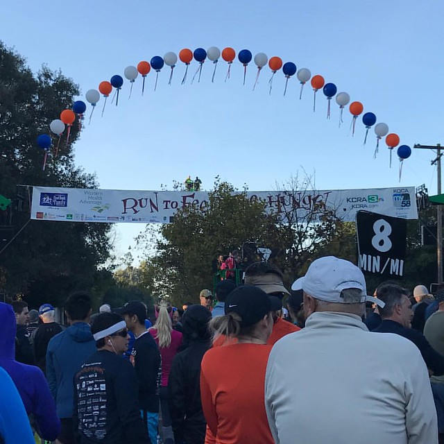 At the start of the 2016 Run to Feed the Hungry #rtfth2016