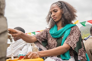 Local women at Raya Kobo woreda, Woiru Dikala Kebele -Amhara National Regional State enjoys the newly inaugurated water supply.