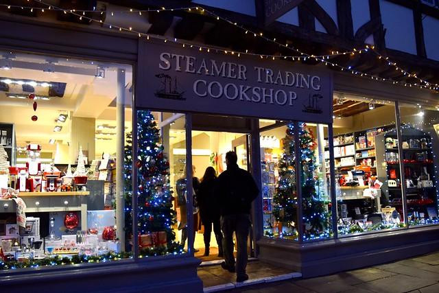 Steamer Trading Cookshop Christmas Window 2016 | www.rachelphipps.com @rachelphipps