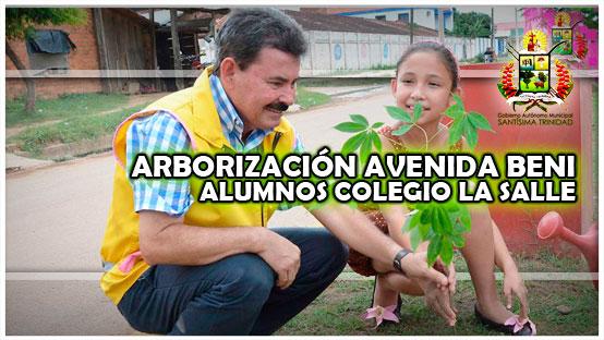 arborizacion-de-la-avenida-beni-con-alumnos-del-colegio-la-salle