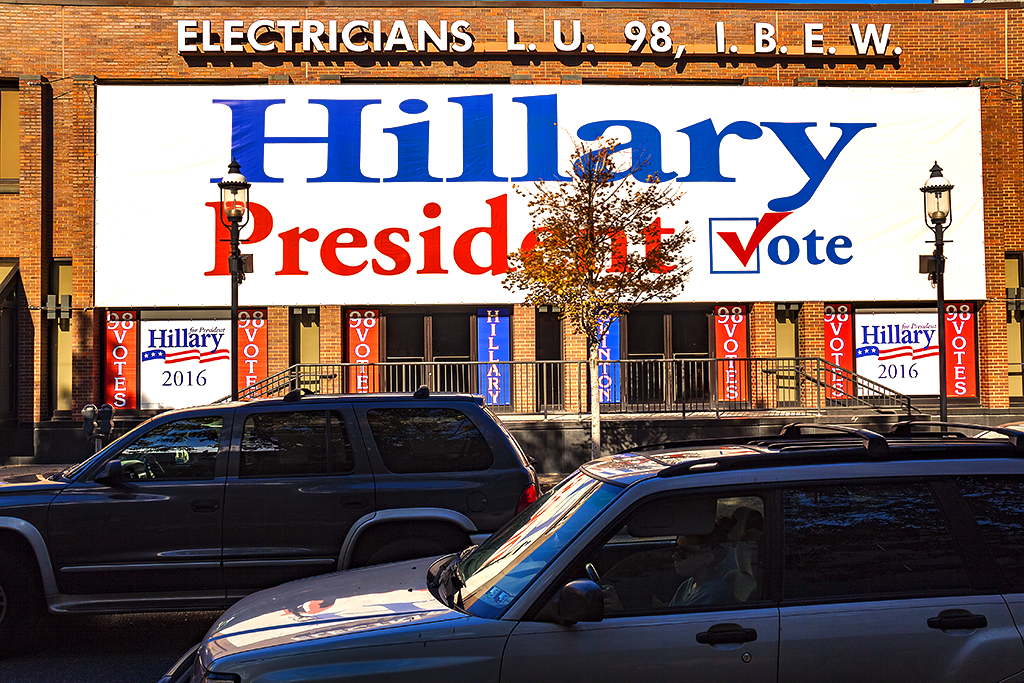 Electricians' union for Hillary Clinton--Fairmount