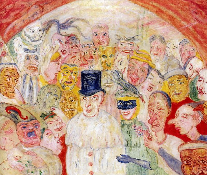 James Ensor - Intrigued Masks, 1930