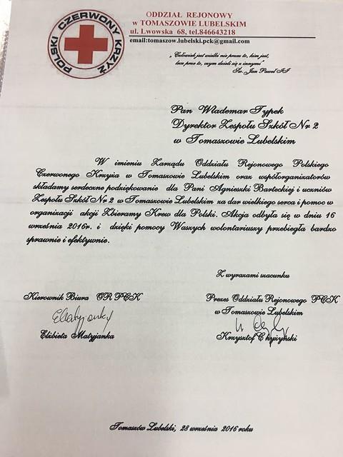 Zbieramy krew dla Polski