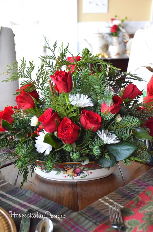 Christmas Floral Arrangement - Housepitality Designs