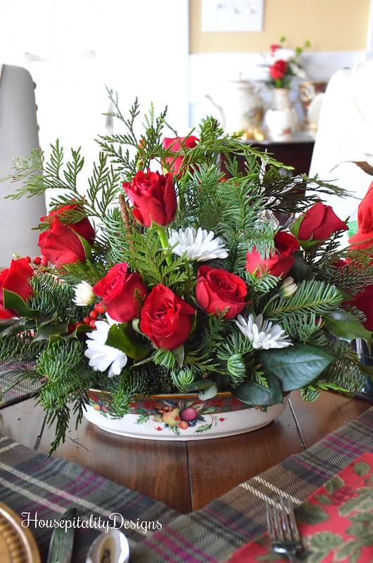 Christmas Floral Arrangement - Housepitality Designs