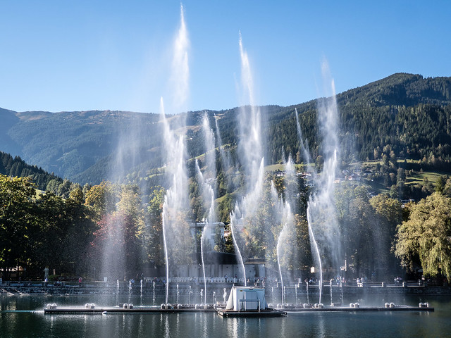 fountain in the lake