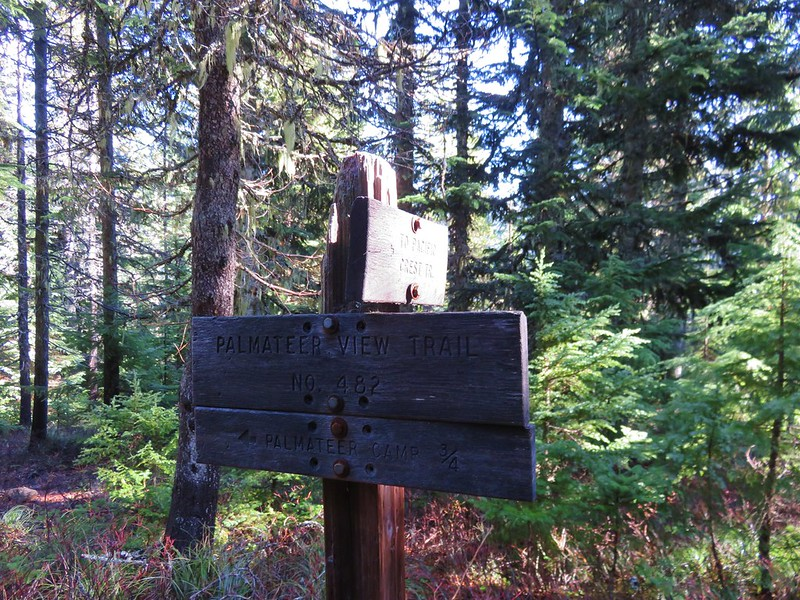Trail sign along the Palmateer Trail