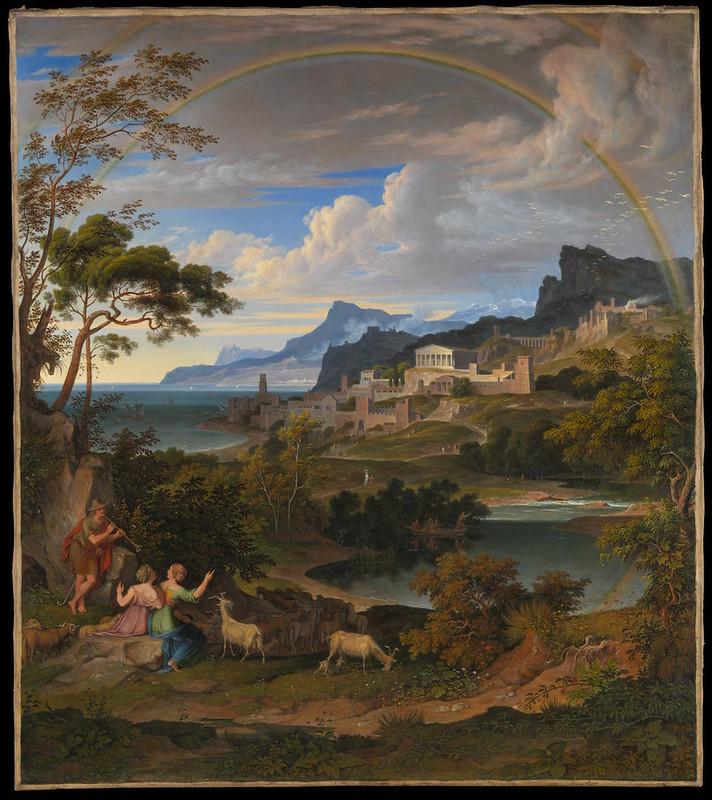 Heroic Landscape with Rainbow Artist:Joseph Anton Koch (Austrian, Obergibeln bei Elbigenalp 1768–1839 Rome) Date:1824