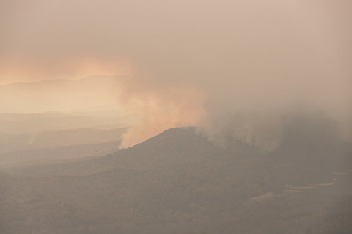 View of fire from Caesars Head - 3