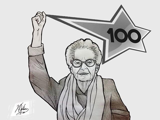 Noicattaro. Vignetta centenario Nonna Maria Antonia gentile intero
