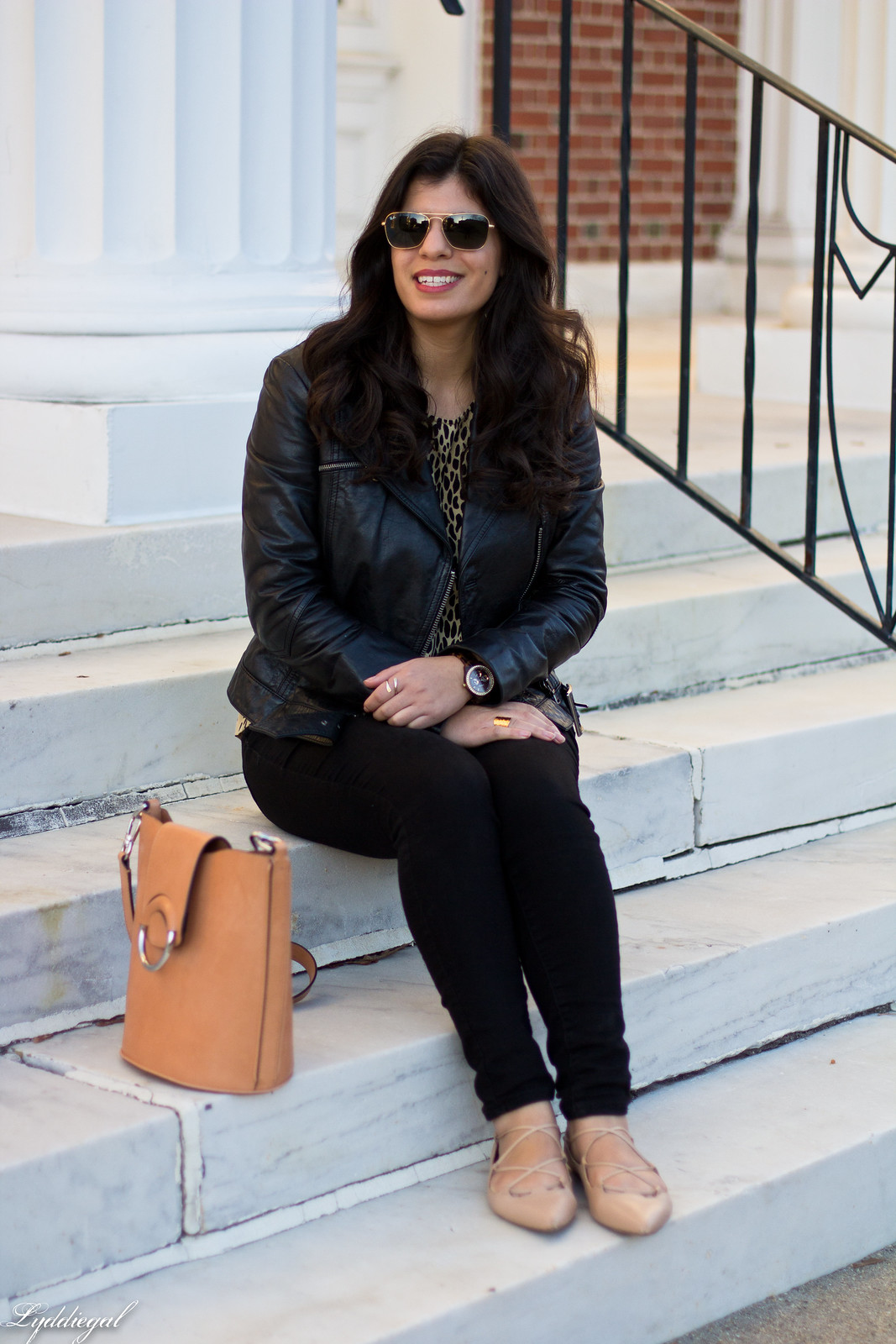 leopard print blouse, black leather jacket, black jeans-3.jpg