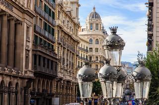 Straßenzug in Barcelona