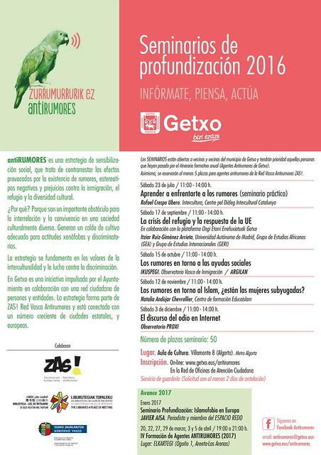 """""""El discurso del odio"""", conferencia en Getxo"""