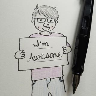 3/31 Awesome #inktober #inktober2016