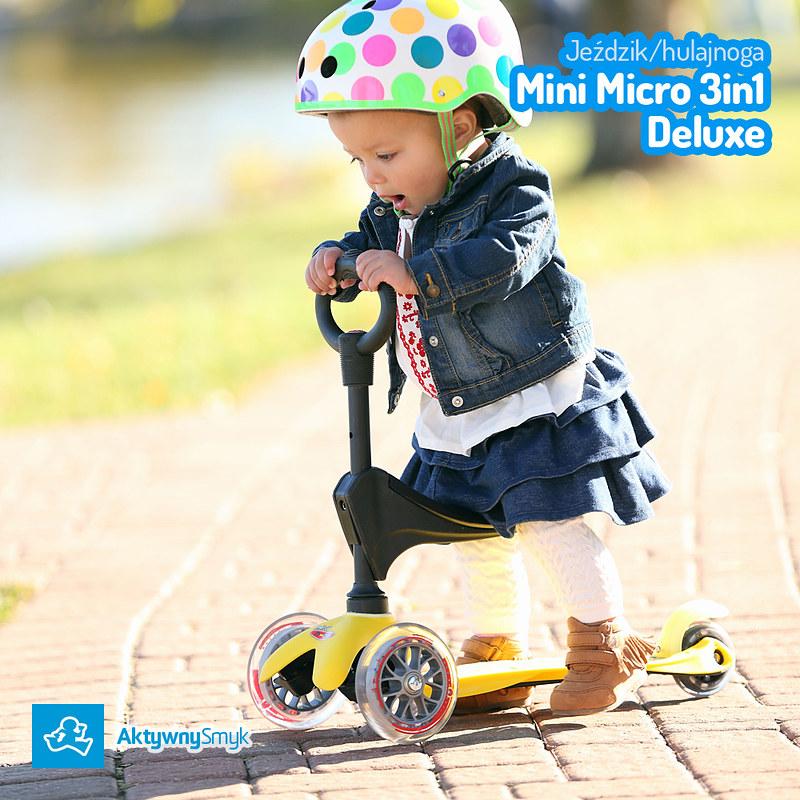 Mini Micro 3in1 Deluxe  - jeździk i hulajnoga