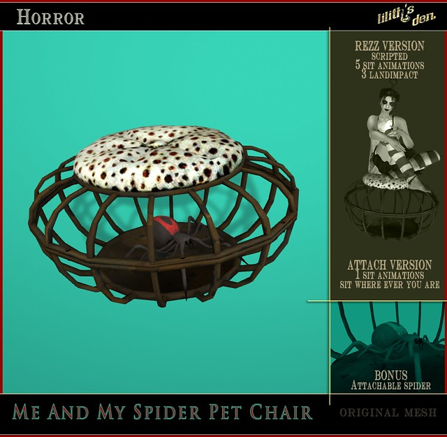 Lilith's Den - Me & My Spider Pet Cage Chair