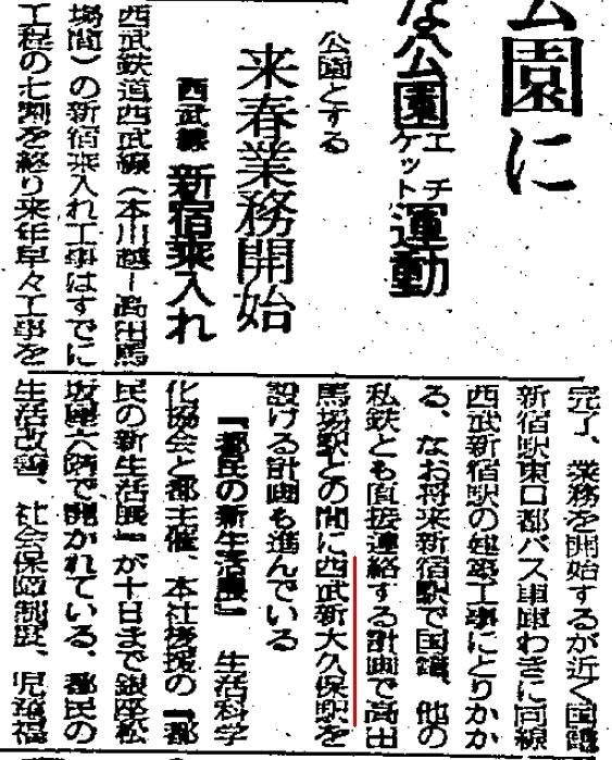 西武新宿線 国鉄新宿駅乗り入れ計画 (66)