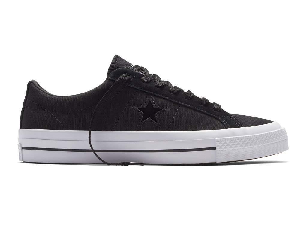 CONS SHIELD CANVAS ALMOST BLACK