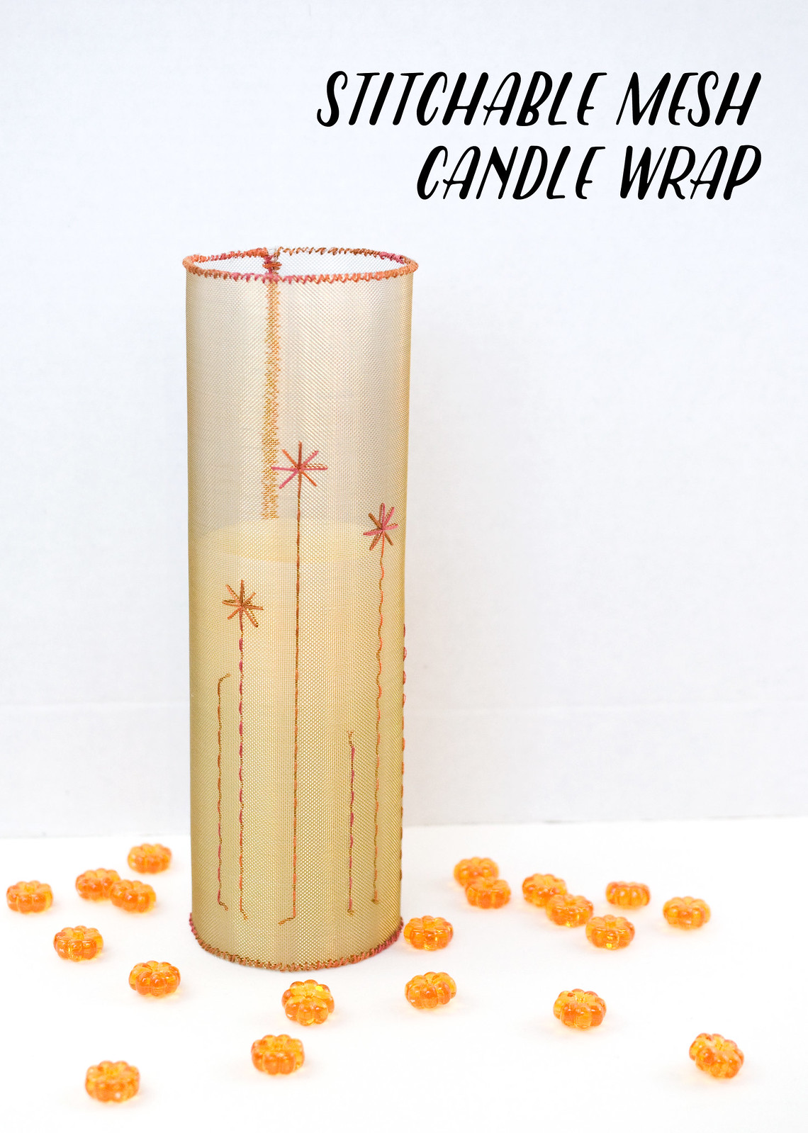 Stitchable Mesh Candle Wrap