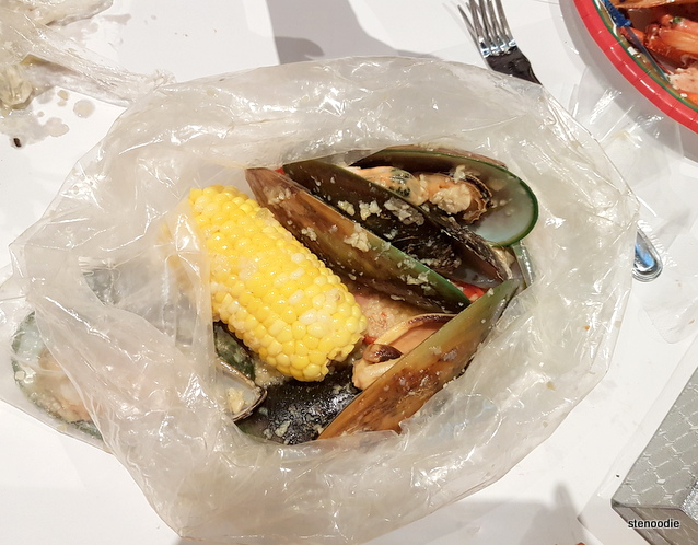 British Columbia Mussels with Sweet Corn and Sausage