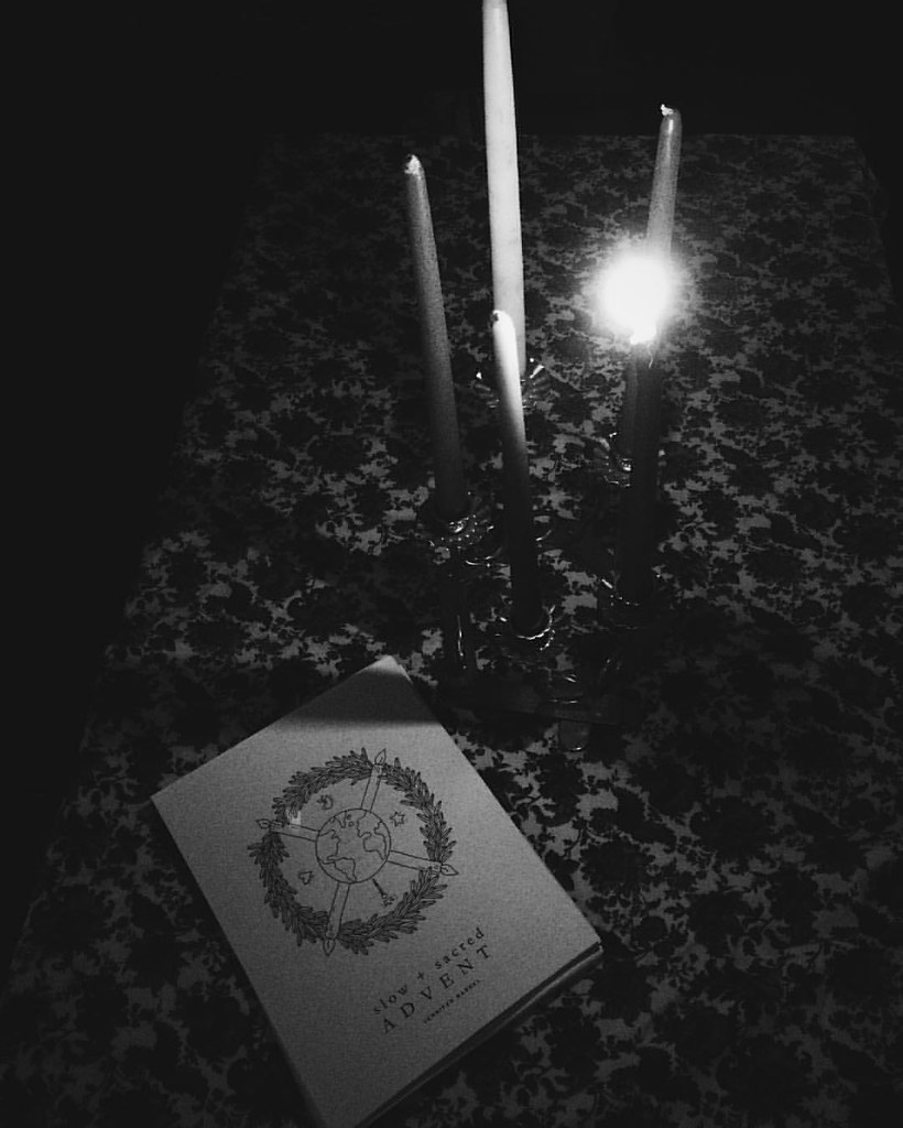 """""""O come to us, abide with us, our Lord Emmanuel."""" Celebrating this first Sunday of Advent. #advent #slowandsacredadvent"""