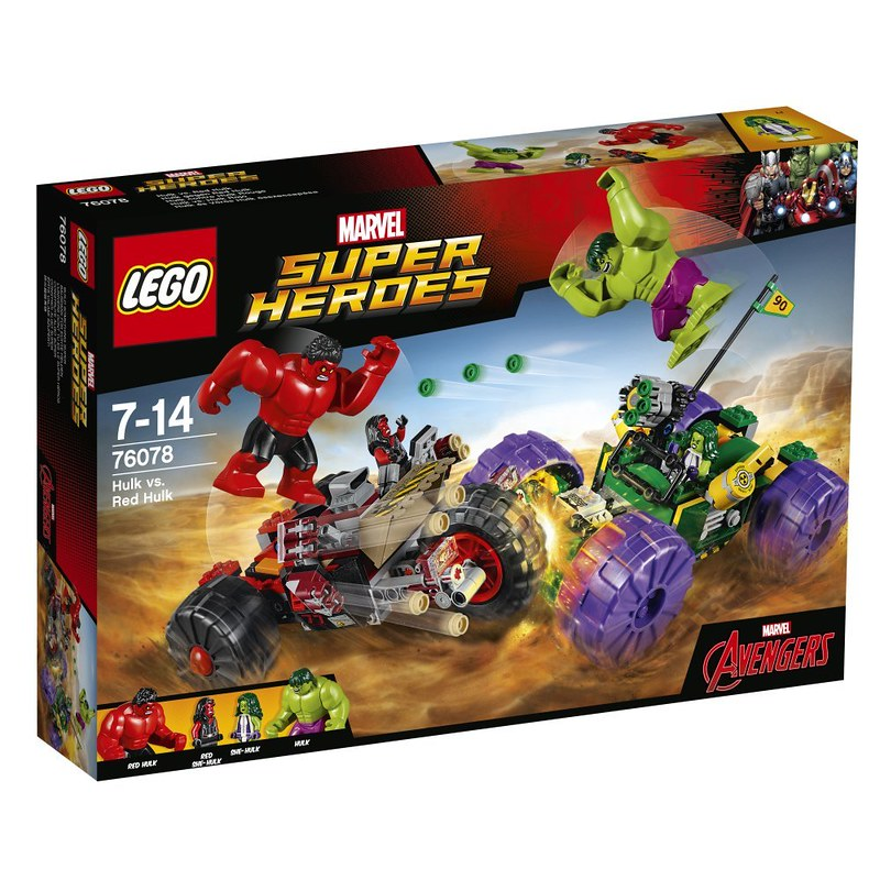 LEGO Marvel 2017 - Hulk vs Red Hulk (76078)