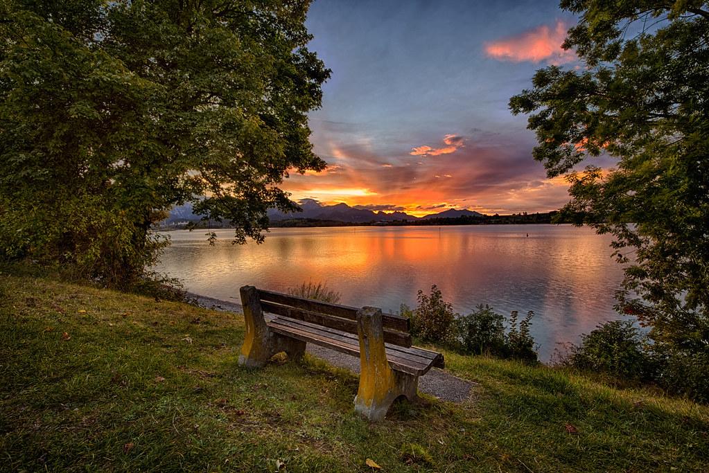 Forggensee im Sonnenuntergang I (HDR)