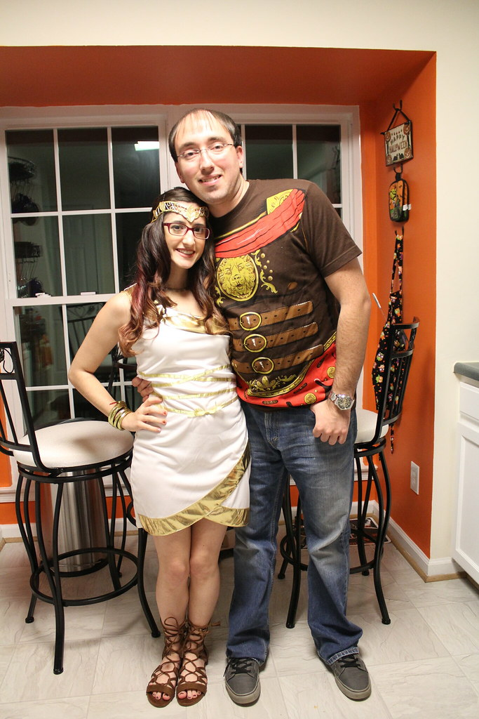 Greek goddess and Trojan soldier Halloween costume