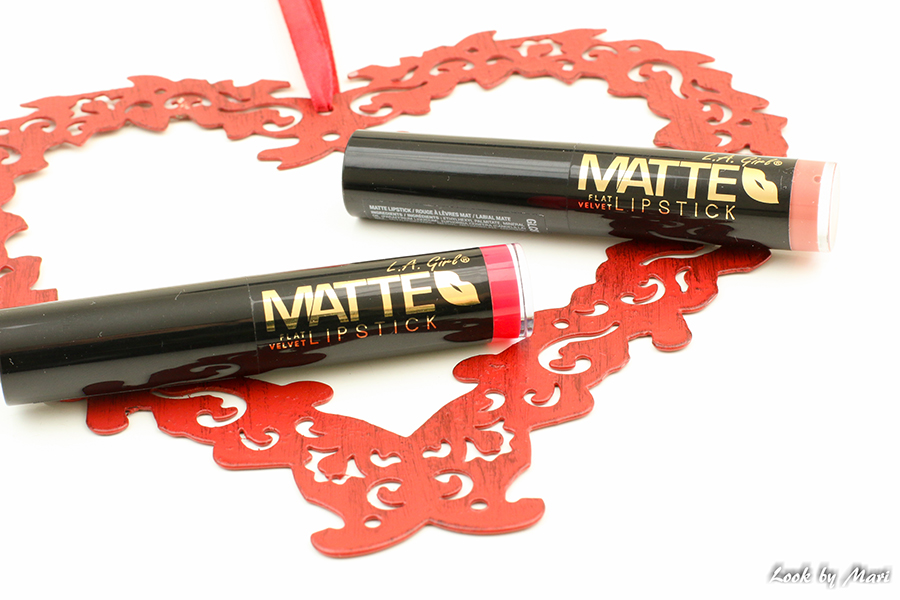 5 L.A. Girl Matte flat velvet lipstick snuggle hot stuff review