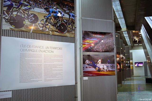 """Aperçu de l'exposition """"L'Île-de-France, un territoire olympique en action"""""""