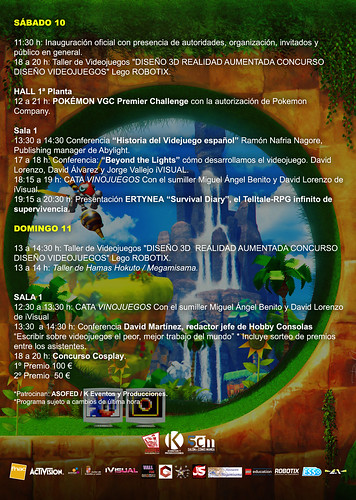 NEW & RETRO Valladolid GAME FESTIVAL. 2016. Programa