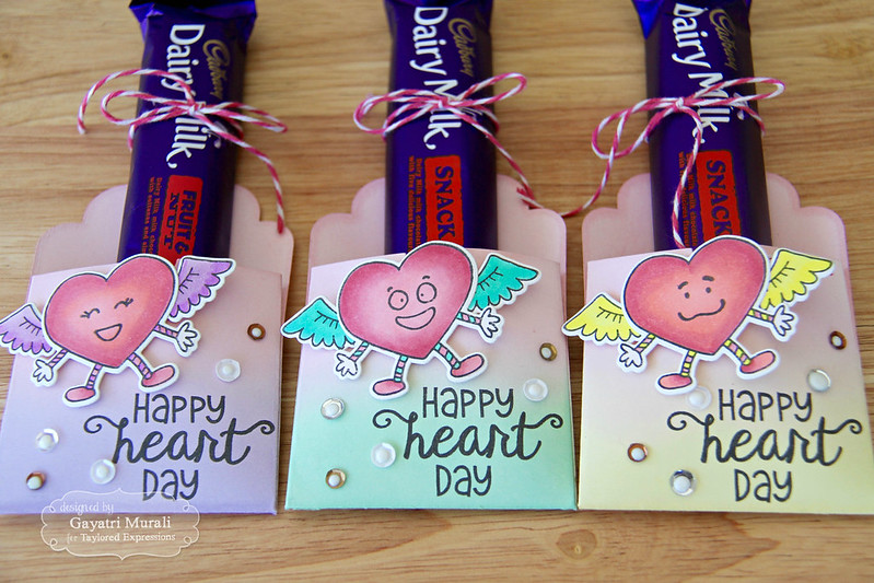 Heart days treat bag closeup