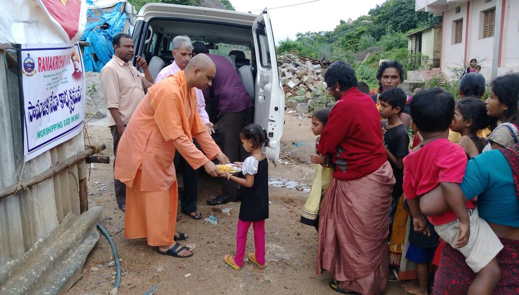Flood Relief by Ramakrishna Math, Hyderabad