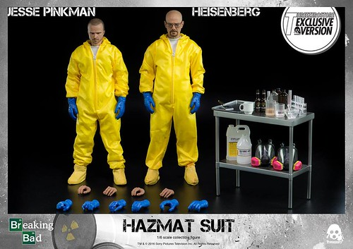 Breaking Bad Heisenberg & Jesse Hazmat Suit Combo 1