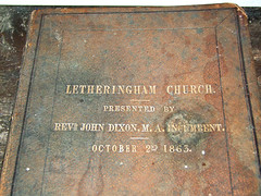 Letheringham Church Prayer Book, October 2nd 1863