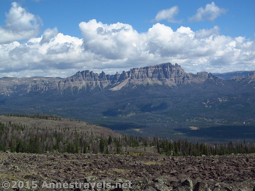 Pinnacle Peaks from Lava Mountain, Wyoming