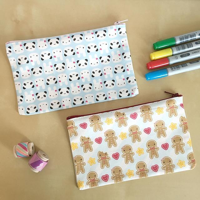 Fabric pencil cases