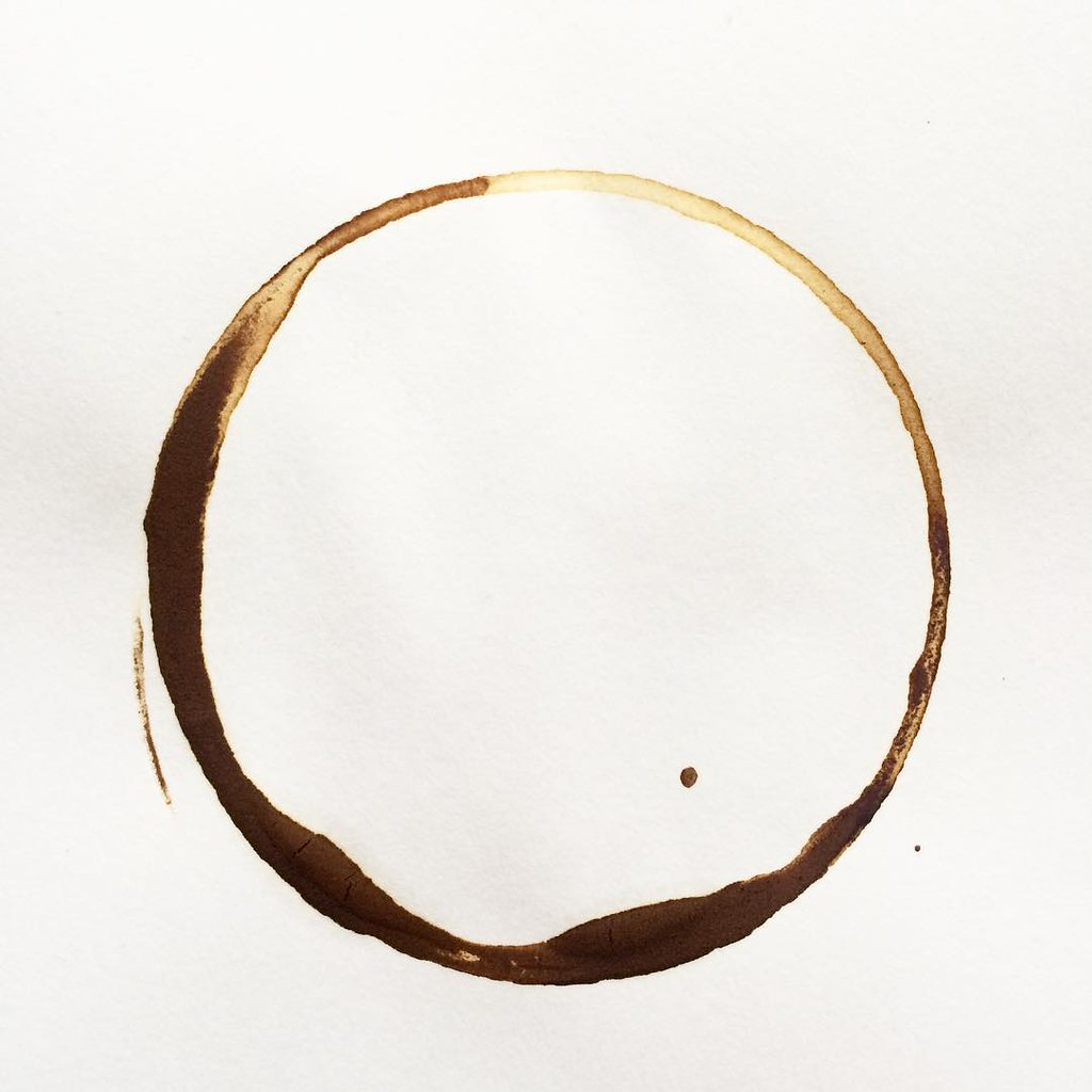 Today's coffee mark. I couldn't possibly double mark this one. Minimalism won. #coffeeart
