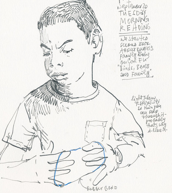 Sketchbook #100: Reading Time